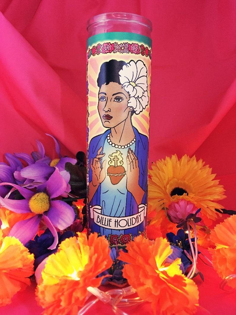 Legendary Women Memorial Candles: Billie Holiday