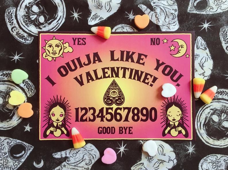 Val-O-Ween Postcards: Ouija Like You