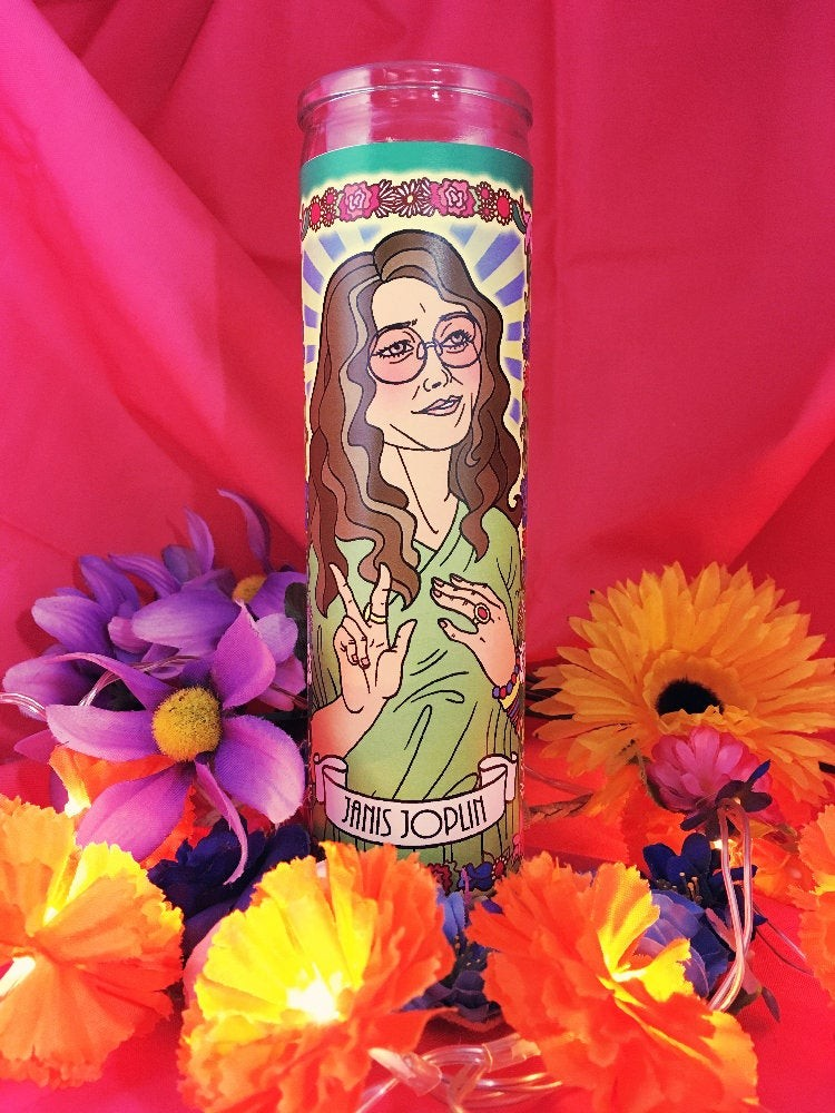 Legendary Women Memorial Candles: Janis Joplin