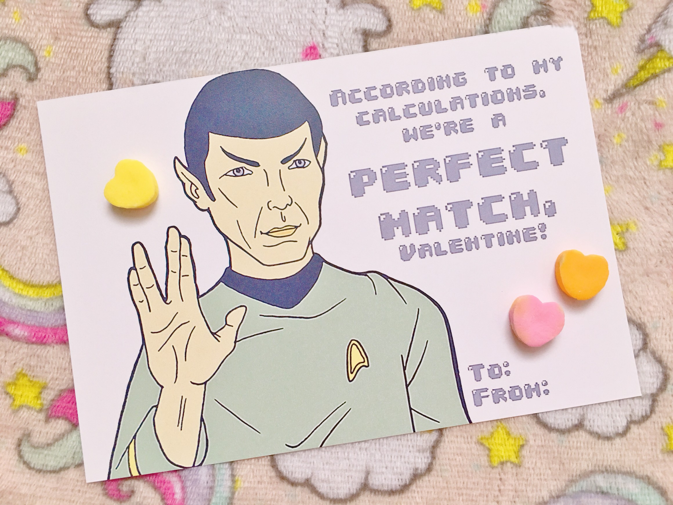 Paste Pop Valentines: Spock