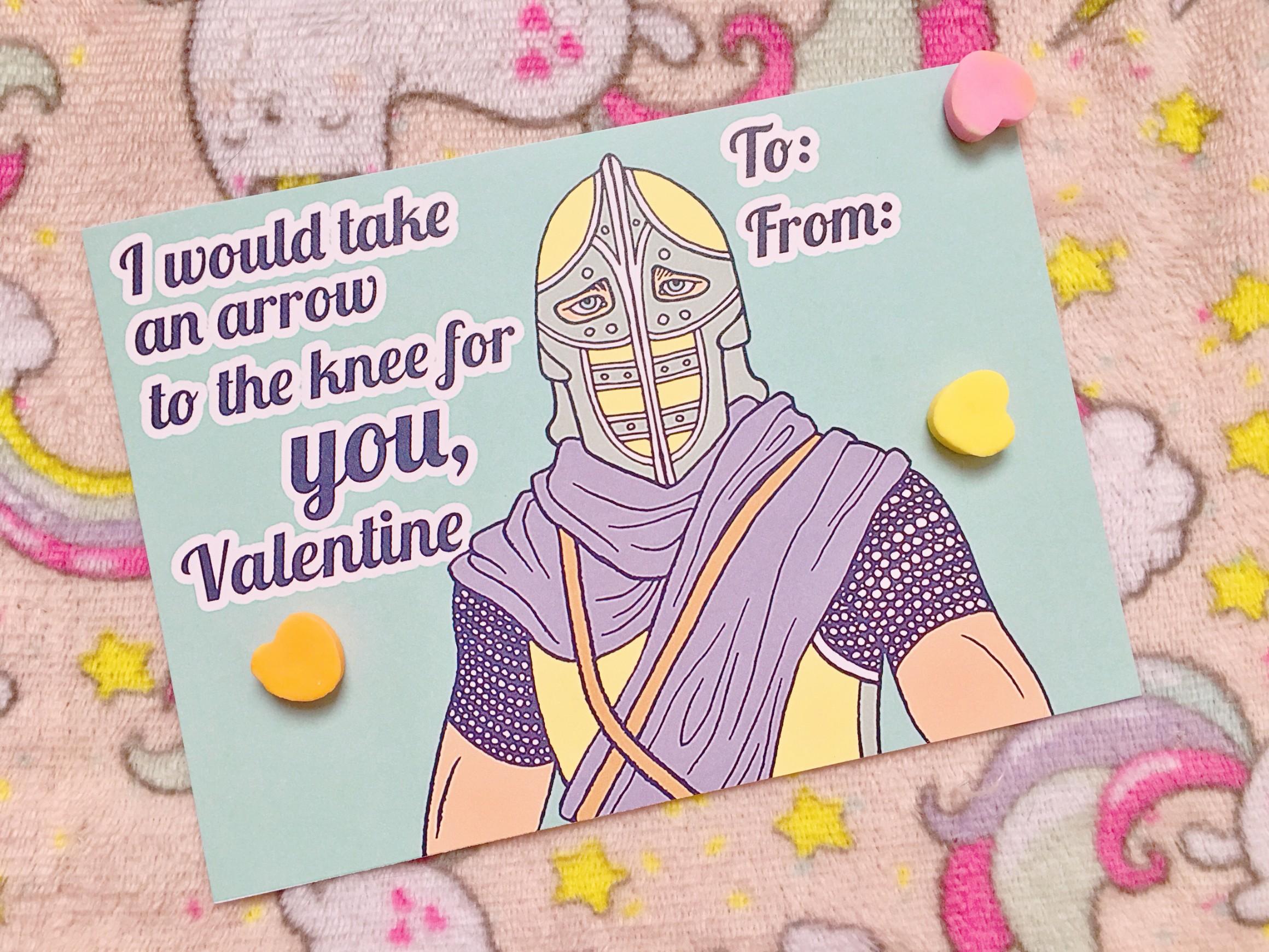 Pastel Pop Valentines: Skyrim