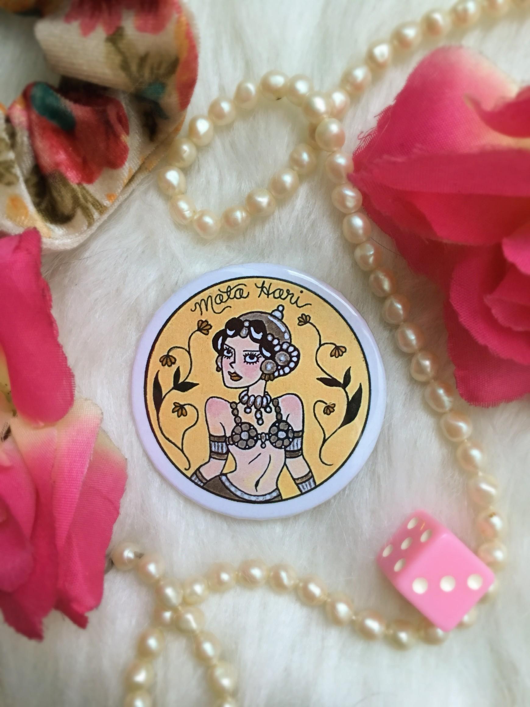 Historical Women Pin Collection: Mata Hari