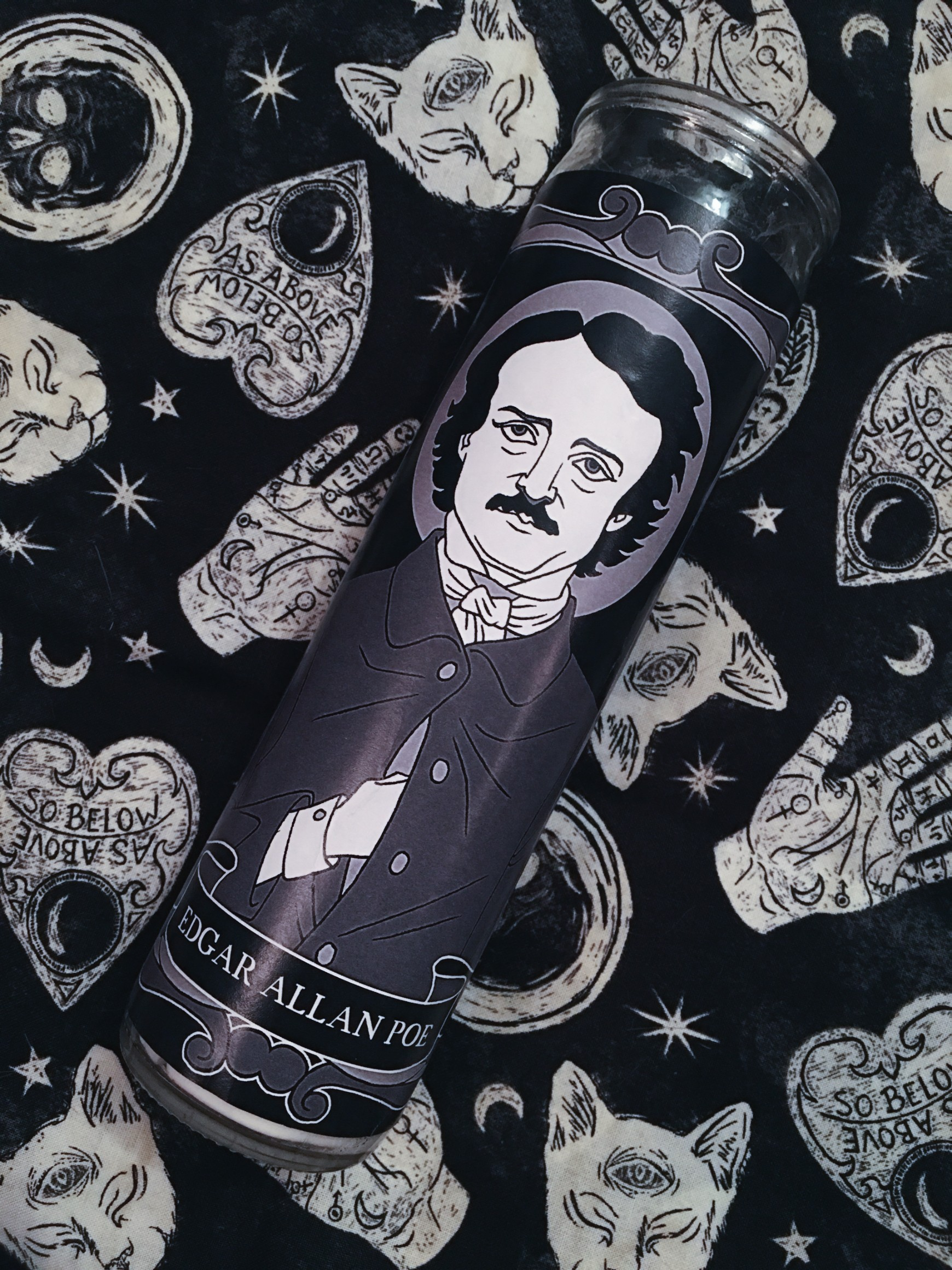 Goth Squad Votive Candle Collection: Edgar Allan Poe