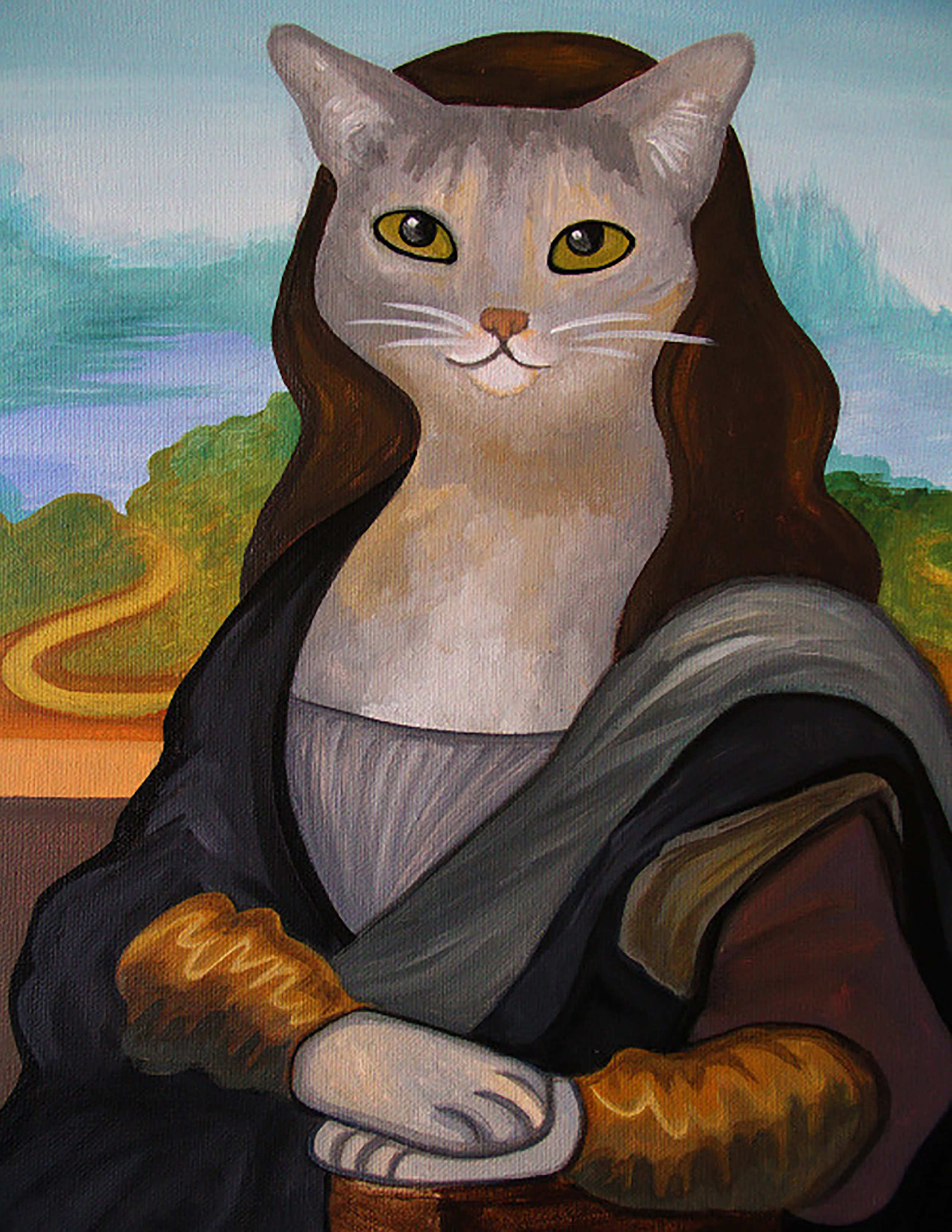 The Meowna Lisa Art Print