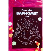 Val-O-Ween Postcards: Baphomet Black