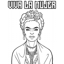 Viva La Mujer Downloadable Coloring Page
