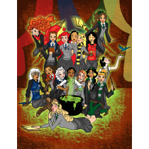 When Princesses Go To Wizard School Art Print