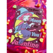 Val-O-Ween Postcards: Over The Moon