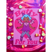 Val-O-Ween Postcards: Batty For You