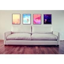 Four Floating Kitties Art Print Series
