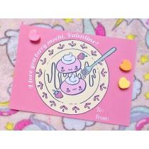 Pastel Pop Valentines: Berry Mochi
