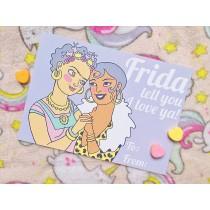 Pastel Pop Valentines: Frida