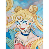 Riot Grrrl Usagi Sailor Moon Art Print